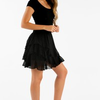Truth Or Flare Flirty Skirt in Black