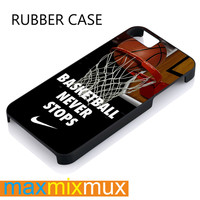 Nike Basketball Never Stop iPhone 4/4S, 5/5S, 5C, 6/6 Plus Series Rubber Case