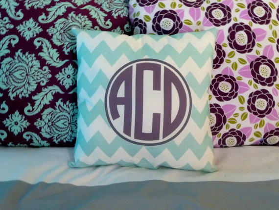 Monogram Throw Pillow From Sedroc On Etsy