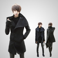 New Fashion Mens Slim Wide Lapel Trench Coat Casual Jacket Spring&Autumn&Winter Outerwear Overcoat Outdoor Parka M/L/XL/XXL 4 Colors