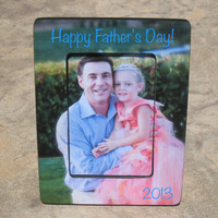 Personalized Father's Day Picture Frame, Unique Father's Day Gift, Maid of Honor Frame, Flower Girl Gift