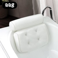 AAG Spa Pillow With 4 Suction Cups Luxury Spa Pillow With Head, Neck, Shoulder and Back Support. Non-Slip