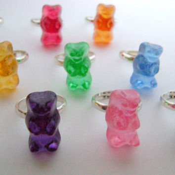 1 x Gummy Bear Ring - Your choice of colour