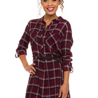 Myka Plaid Tunic