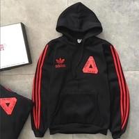 Adidas+Palace Women Men Fashion Hoodie Top Sweater Pullover