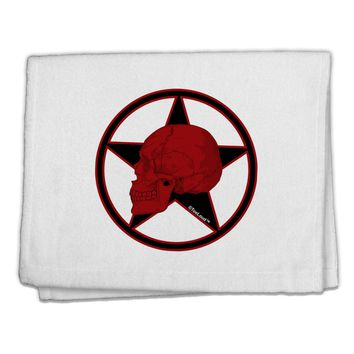 """Blood Red Skull 11""""x18"""" Dish Fingertip Towel by TooLoud"""