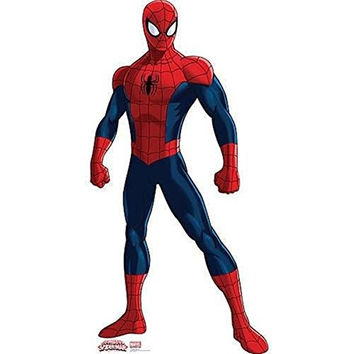Marvel Ultimate Spider-Man Giant Cardboard Standup & Pop Out Props ~ over 5 feet tall