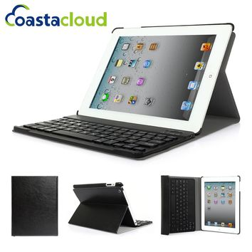 Case For iPad 2 3 4  Slim PU Leather Folio Protective Smart Case Stand Tablet  Covers With Wireless Bluetooth Keyboard
