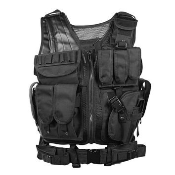 2017 New Outdoor Tactical Vest Camouflage Military Body Sports Wear Hunting Vest Army Molle Tank Tops With Holster