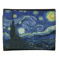 Starry Night Vincent van Gogh Fine Art Painting Wallets