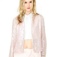 Button up collar sequins long sleeve jackets HY-141306620