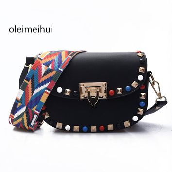 Hot new style design fashion cute mini good quality rivets big blue stone braided strap shoulder bag ladies messenger bag purse