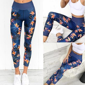 Women's Yoga Running Fitness Leggings Pants Athletic Trouser