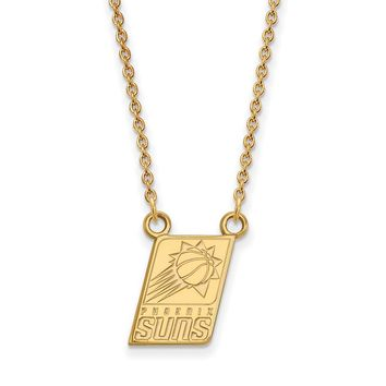 NBA Phoenix Suns Sm Pendant Necklace in 10k Yellow Gold - 18 Inch