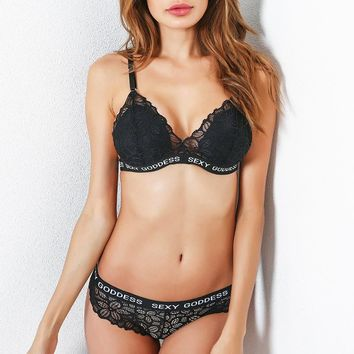 Underwear Summer Women's Fashion Sexy Lace Alphabet Set [10727290435]