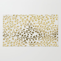 Gold Ivy Rug by Cat Coquillette
