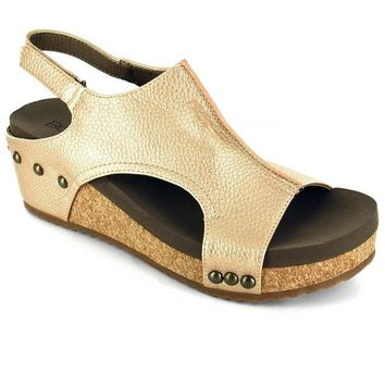 Volta Wedge In Gold By Corkys