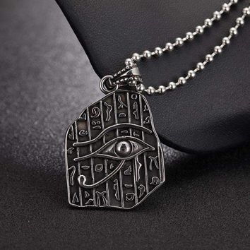 The Eye Of Horus Charming Pendant Necklace Gold Color Ancient Egyptian
