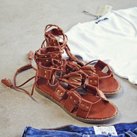 Tangled Wrap Sandals