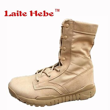 Laite Hebe Delta Tactical Men Boots Military American Combat Winter Desert Boot Hiking Shoes Men Group Couple Boots Size 36-45