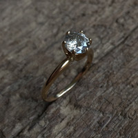 Custom Galaxy Diamond Solitaire Ring