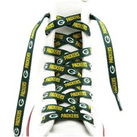 "Green Bay Packers Shoe Laces - 54"" Green"
