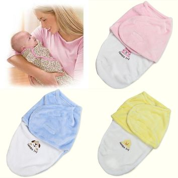 Baby Swaddle Wrap Soft Envelope for Newborn Products Blanket Swaddling Carters Fleece Sleeping Bag