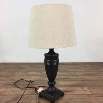 Wood Table Lamp  whith Shade