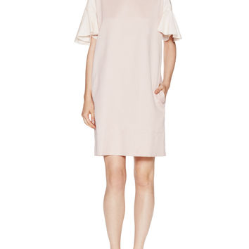 See by Chloe Women's Frilly Short Sleeved Shift Dress - Pink - Size 40
