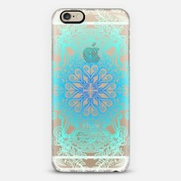 Vintage Fancy Lace in Ocean Blues iPhone 6 case by Micklyn Le Feuvre | Casetify