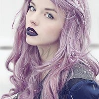 Long Wavy Purple Fairy Costume Wig