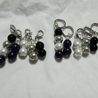 Asexual Pride Flag Knitting Stitch Markers READY TO SHIP set of five