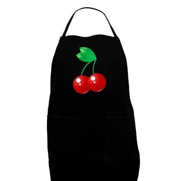 Cherries Dark Adult Apron