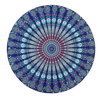Colorful Beach Mandala Towel
