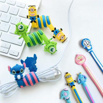 VONC1Y Cartoon Cord Winder Reversal Korea fashion creative Lovely Classic adorable long strip winding thread tool device silicone