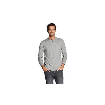 Merona Men's Long Sleeve Lightweight Henley Shirt, Xxl, Molten Lead