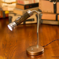 Vintage Flashlight Desk Lamp