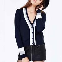 Cooperative Collegiate Cardigan- Navy
