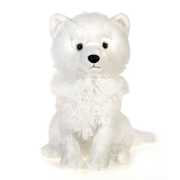 10 Inch Stuffed Arctic Fox Plush Animal Arctic Forest Collection
