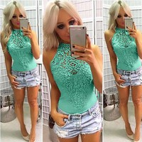 Womens Jumpsuit Holiday Casual MiniPlaysuit Ladies Romper Summer Beach Jumpsuit