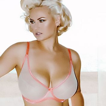 Fishnet Full Figure Unlined Bra Claudette CD12012