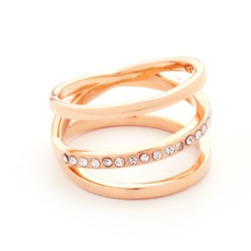 Helix Crystal Ring