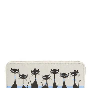 kate spade new york 'jazz things up - jazz cats lacey' zip around wallet | Nordstrom