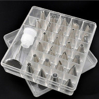 26pcs Icing Piping Nozzles Tips Tool Set For Cake Puff Decorating SE5
