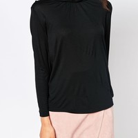 Vero Moda Long Sleeve High Neck Jersey Top at asos.com