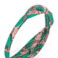 FOREVER 21 Whimsical Horse Headwrap Green/Pink One