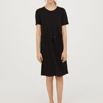 Jersey Dress with Drawstring - from H&M
