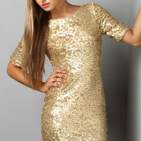 Global DJ Gold Sequin Dress