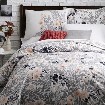 Printed Petals Duvet Cover + Shams - Shockwave