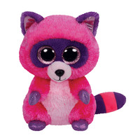 TY Beanie Boos - ROXIE the Raccoon (Glitter Eyes) (Regular Size - 6 inch)